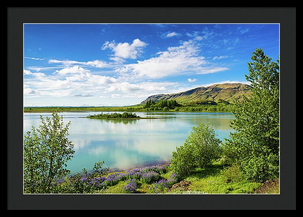 River Hvita In South Iceland - Framed Print