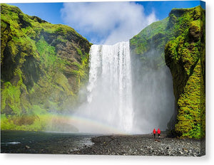 Skogafoss Waterfall Iceland - Canvas Print