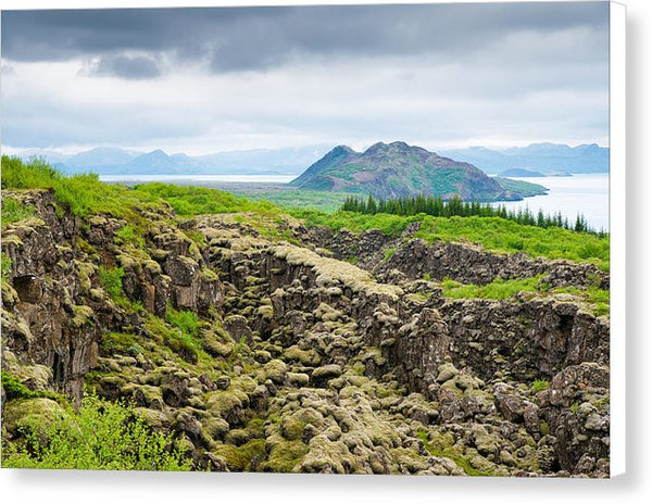 South Iceland Landscape Pingvellir - Canvas Print