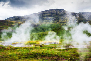 Steaming Geysers And Hot Springs In Iceland - Art Print