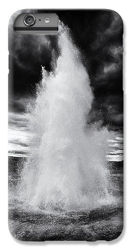 Strokkur Geyser Iceland Black And White - Phone Case