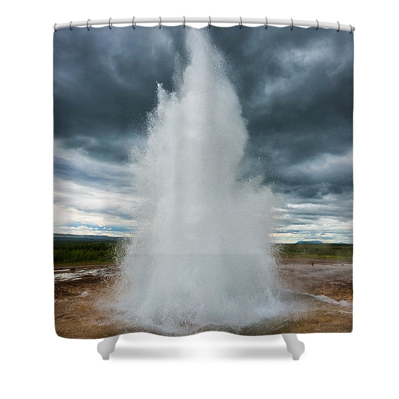 Strokkur Geyser Iceland - Shower Curtain