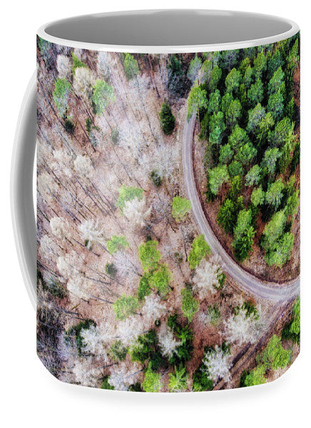 Trees And Path From Above Drone Photography - Mug