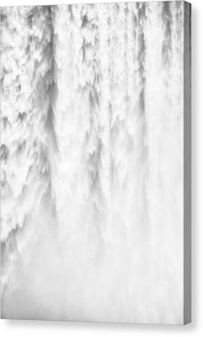 Waterfall Detail Skogafoss Iceland - Canvas Print