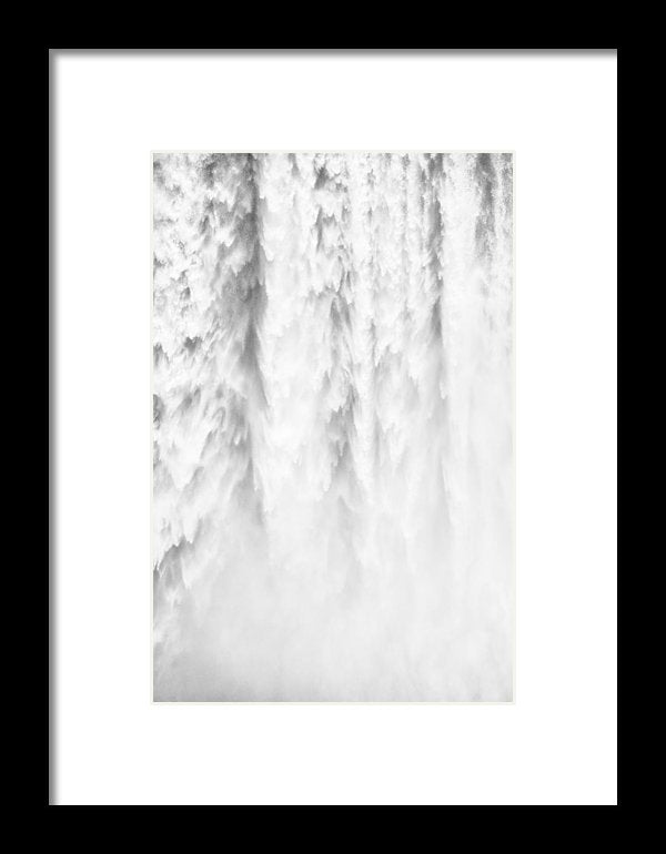 Waterfall Detail Skogafoss Iceland - Framed Print