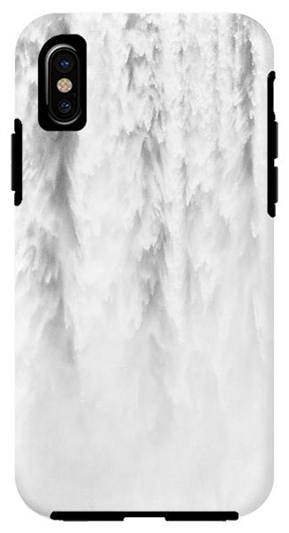 Waterfall Detail Skogafoss Iceland - Phone Case