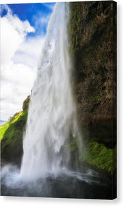 Waterfall Seljalandsfoss In Iceland - Canvas Print