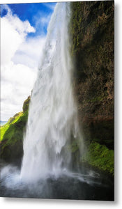 Waterfall Seljalandsfoss In Iceland - Metal Print