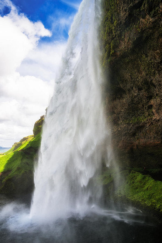 Waterfall Seljalandsfoss In Iceland - Art Print