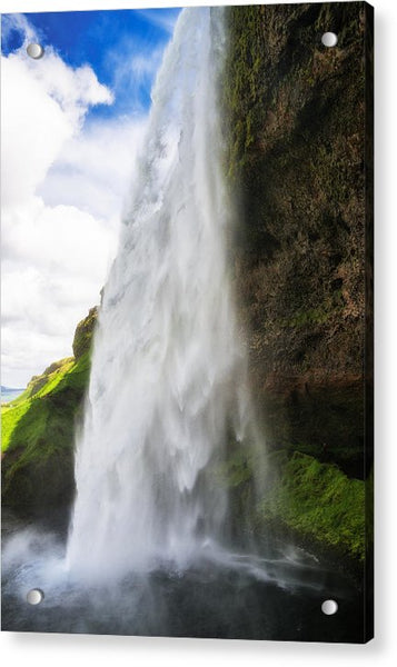 Waterfall Seljalandsfoss In Iceland - Acrylic Print