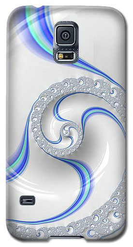 White And Blue Spiral Elegant And Minimalist - Phone Case