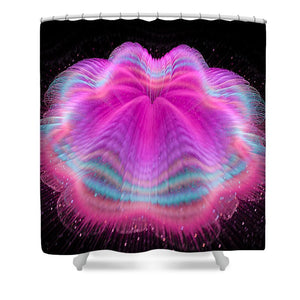 Wobbly Jelly Fractal Pink And Orchid - Shower Curtain