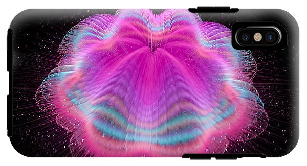 Wobbly Jelly Fractal Pink And Orchid - Phone Case