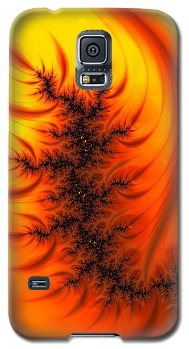 Yellow And Orange Fractal Fire - Phone Case