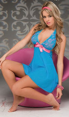 Blue/Pink Chemise