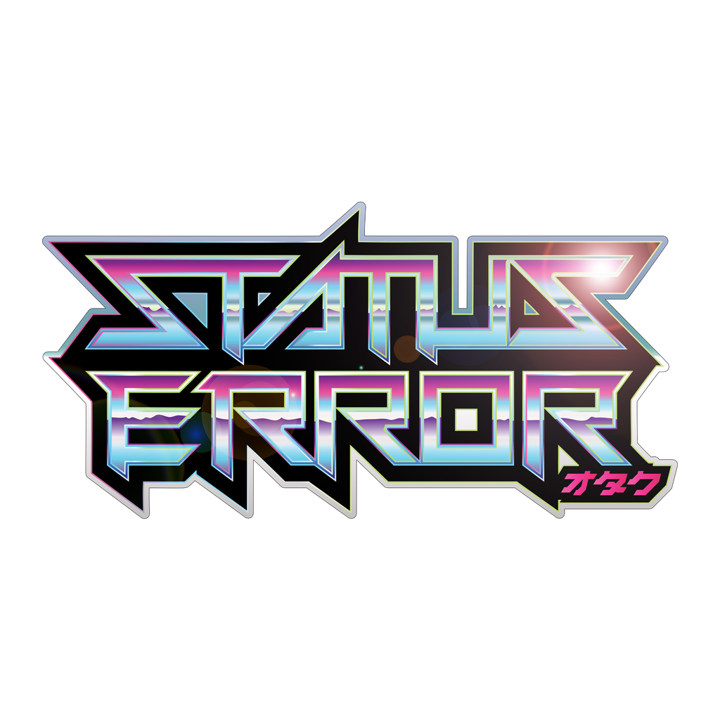 Status Error Reflective Chrome Logo Sticker