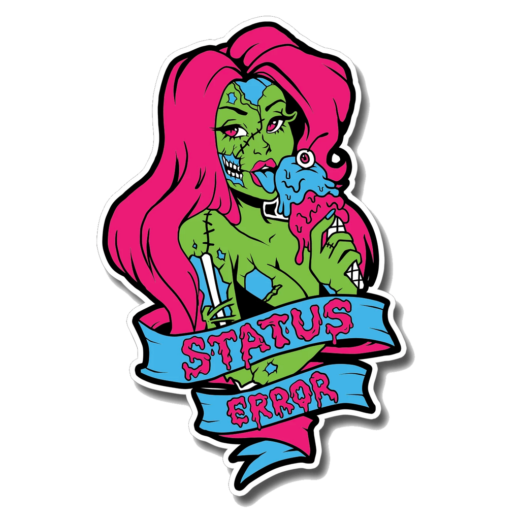 Status Error Ice Cream Girl Sticker
