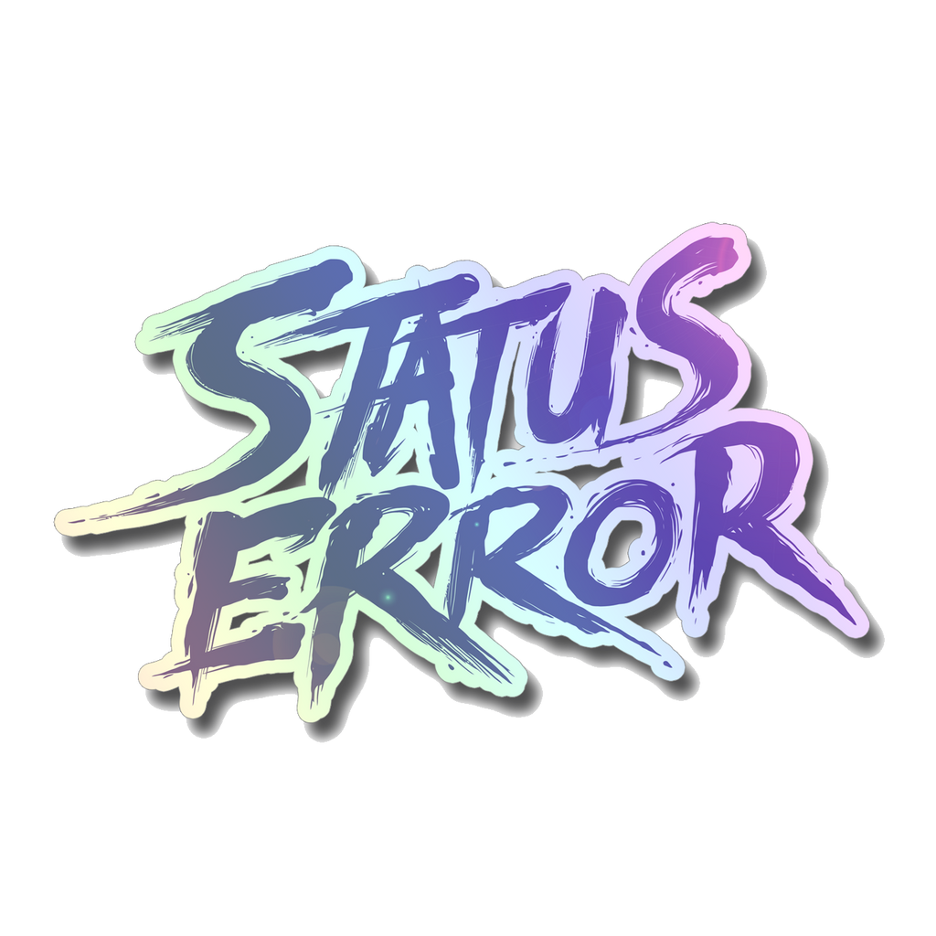 Status Error Chrome Sticker (Purple)