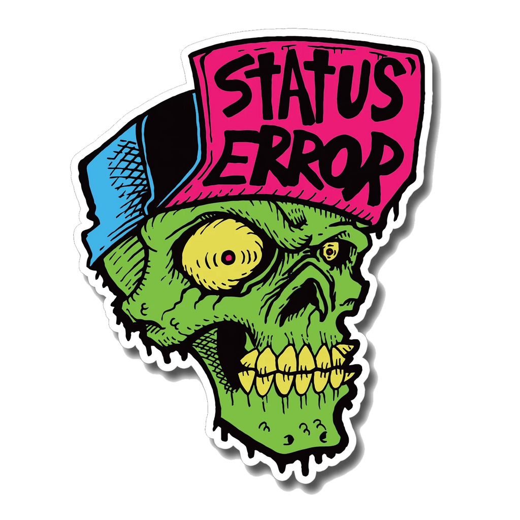 Status Error Skull Sticker