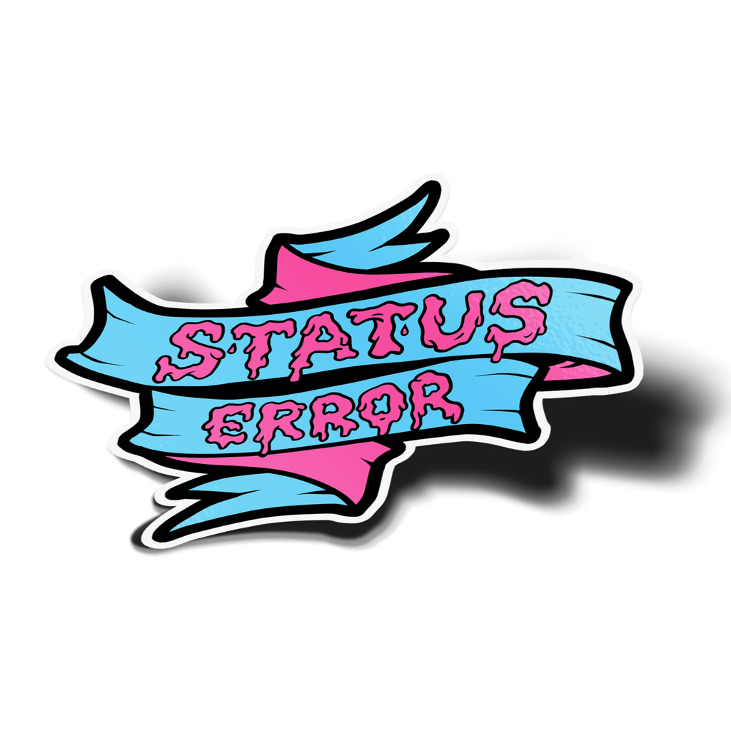 Status Error Ice Cream Ribbon Sticker