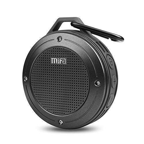 Bluetooth Speaker, MIFA F10 Portable Speaker with Enhanced 3D Stereo Bass Sound, IP56 Dustproof Waterproof, 10-Hour Playtime, Built-in Mic, Micro SD Card Slot, USB Audio Input - Cool-Hyper-Tech