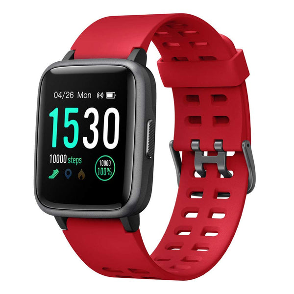 Smart Watch for Android iOS Phone 2019 Version IP68 Waterproof,YAMAY Fitness Tracker Watch with Pedometer Heart Rate Monitor Sleep Tracker,Smartwatch Compatible with iPhone Samsung for Men Women Kids - Cool-Hyper-Tech