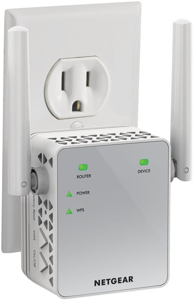 NETGEAR Wi-Fi Range Extender EX3700 - Coverage up to 1000 sq.ft. and 15 devices with AC750 Dual Band Wireless Signal Booster & Repeater (up to 750Mbps speed), and Compact Wall Plug Design - Cool-Hyper-Tech