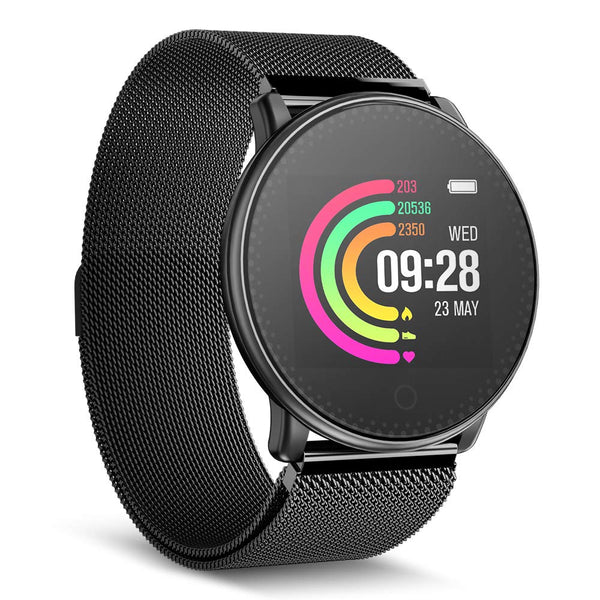 Smart Watch, UMIDIGI Uwatch Bluetooth Smartwatch for Women Men Compatible Android iOS, Fitness Tracker with Heart Rate Monitor & 7-30 Days Battery Life (2 Bands) - Cool-Hyper-Tech