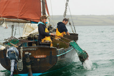 #AlfSmythers Ranger hauling in Fal Oysters by Alan Clarke