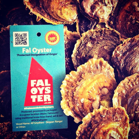 A dozen #02 Wild Cornish Native 'Fal Oysters' PDO
