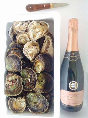 Cornish Trio - Fal Oysters, Porthilly Rocks & Camel Valley BRUT