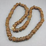 Vintage african beads brown glass strand