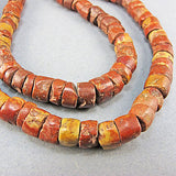 Vintage african beads bauxite stone strand