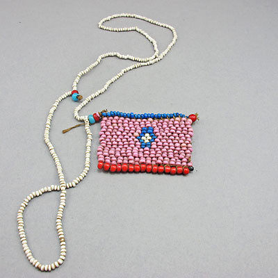 South african  beadwork love letter necklace