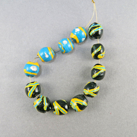 antique african trade beads unusual venetian glass beads old beads UK