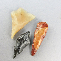 Ancient artifacts flint tools and arrow head