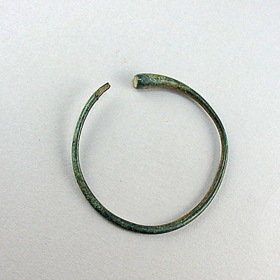 Ancient artifact luristan bronze tapered bangle