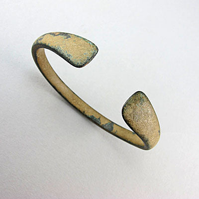 Ancient artifact luristan bronze womans bangle