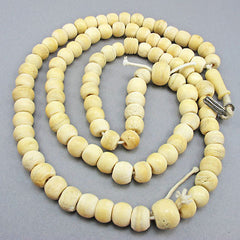 Antique bone beads strand