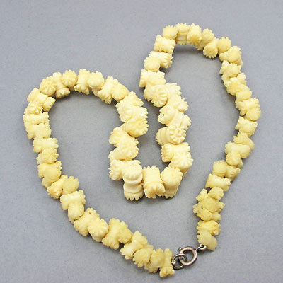 bone sea beads necklace bead shell jewelry necklaces claw fish