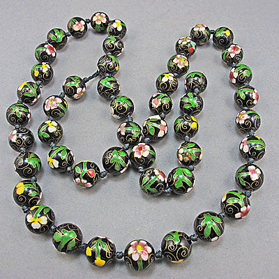 Vintage chinese cloisonne beads
