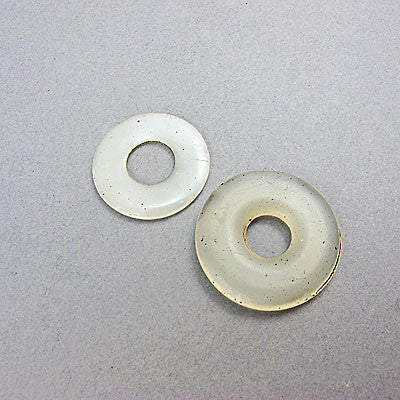 2 Antique chinese beads bi discs