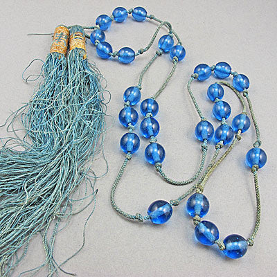 antique pekin glass  beads necklace
