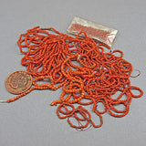 Old coral seed beads
