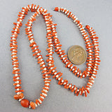 Old coral beads red and white