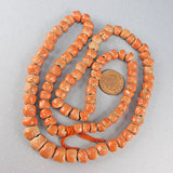 vintage clay beads mock coral