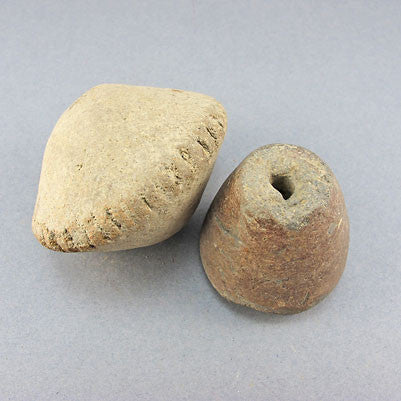 2 sao ancient clay beads