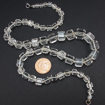 Vintage crystal beads necklace cubes