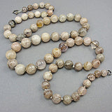 Vintage rock crystal beads necklace mixed beads