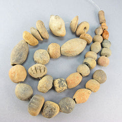 sao ancient clay beads strand